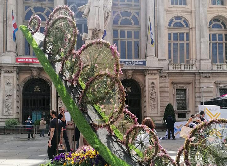 Torino fiorisce con il Giro d'Italia